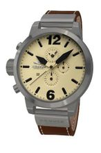 Haemmer HC-32 Bonaccia Brown Chronograph Stainless Steel Leather Date