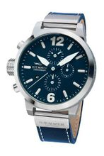 Haemmer HC-38 Marino Medium Blue Chronograph Stainless Steel Leather Date
