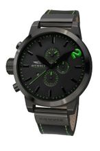 Haemmer HC-39 Tossico Black Chronograph Stainless Steel Leather Date