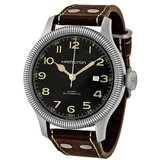 Hamilton Khaki Pioneer Black Dial Leather Strap H60515533