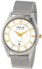 Hamlin HAMM0313:002/04E92GG Ultra Thin White Carbon Fiber Dial Gold Accents Mesh Band