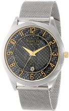 Hamlin HAMM0313:003/04E92GG Ultra Thin Black Carbon Fiber Dial Gold Accents Mesh Band