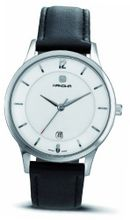 Hanowa 16-4023.04.001.07 Meeting Point Silver Dial Black Leather