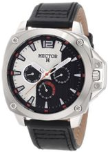 Hector 665252 Silver Sun-Ray Day and Date Black