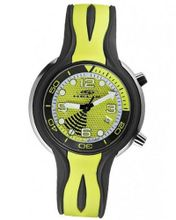 Helix HX265-01S08S Yellow/White Rubber Strap Air Bubble Sport
