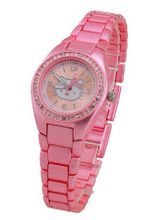 Hello Kitty Girl's HK2106 Pink-Tone Case and Bracelet Crystal Accent