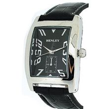 Henley Gents Black Dial With Sub Second Dial Croc Effect Strap H01003.2N