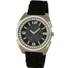 Henley Gents Black & Silver Crystal Sports Strap