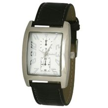 Henley Gents Silver Dial Chrono Effect Black Strap Fashion H01003.1