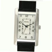 Henley Glamour Gents Black Crocodile Effect Strap Fashion H01005.3