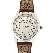 Henley Ladies Analogue Two Tone Silver Dial Suedette Sand Strap H06064.10