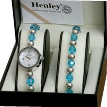 Henley Aqua Marine/Chrome & Jewellery Set