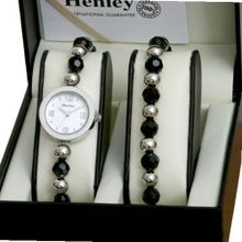Henley Black Jet/Chrome & Jewellery Set