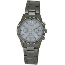 Henley Diamante Encrusted Fashion Quartz with Mother of Pearl Dial Analogue Display and Silver Stainless Steel Plated Bracelet H07193.1