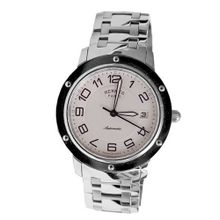 Hermes Clipper CP2.810.220/4964 39mm Automatic Silver Steel Bracelet & Case Anti-Reflective Sapphire &