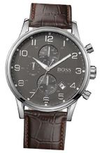 BOSS HUGO BOSS Stainless Steel & Leather Chronograph , 44mm