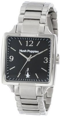 Hush Puppies HP.3667L.1502 Orbz Rectangular Stainless Steel Black Dial