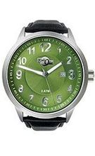 HydrOlix 3-Hand Black Leather/Green Dial Unisex #XA00224