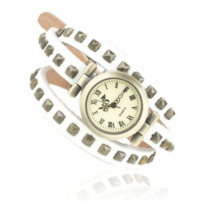 iB-iP Three Circles Square Rivet Unisex-Adult Dress Wrist