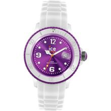 Ice- SI.WV.S.S.10 Unisex Small Violet Dial White Silicon Strap