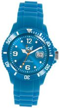 Ice- Unisex SS.FB.U.S.11 Blue Silicone Quarts with Blue Dial