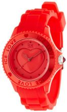 Plastic Resin Ice Love Red Dial Silicone Strap