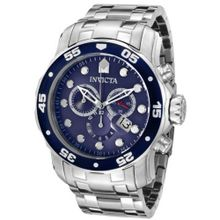 "Invicta 0070 ""Pro Diver Collection"" Stainless Steel and Blue Dial"
