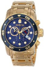 Invicta 0073 Pro Diver Collection Chronograph 18k Gold-Plated