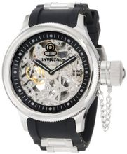 Invicta 1088 Russian Diver Stainless Steel and Black Polyurethane Mechanical with Skeleton Window