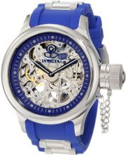 Invicta 1089 Russian Diver Stainless Steel and Blue Polyurethane Mechanical with Skeleton Window