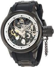 Invicta 1091 Russian Diver Stainless Steel and Black Polyurethane Mechanical with Skeleton Window