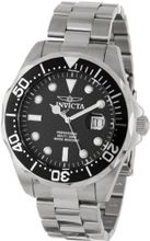 Invicta 12562X Pro Diver Black Carbon Fiber Dial Stainless Steel