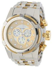 Invicta 12746 Bolt Reserve Chronograph Champagne Mother-Of-Pearl Dial Stainless Steel