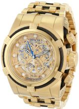 Invicta 12903 Bolt Reserve Chronograph Gold Tone Dial 18k Gold Ion-Plated Stainless Steel