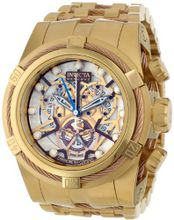 Invicta 13756 Bolt Reserve Chronograph Rose Gold Tone and Beige Dial 18k Gold Ion-Plated Stainless Steel