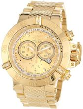 Invicta 14500 Subaqua Noma III Chronograph Gold Dial 18k Gold Ion-Plated Stainless Steel