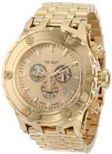Invicta 14506 Subaqua Reserve Chronograph Gold Dial 18k Gold Ion-Plated Stainless Steel