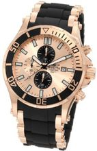 Invicta 1479 Sea Spider Chronograph Rose Dial Black Polyurethane