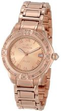 "Invicta 14803 ""Angel"" 18k Rose Gold Ion-Plated Stainless Steel and Diamond Bracelet"