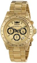 Invicta 14929 Speedway Analog Display Japanese Quartz Gold