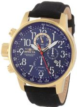 Invicta 1516 I Force Collection 18k Gold Ion-Plated Stainless Steel and Cloth