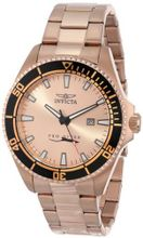 Invicta 15185SYB Pro Diver Rose Gold Dial 18k Ion-Plated Stainless Steel with Impact Case