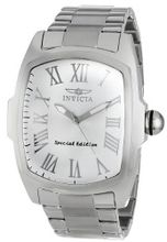 "Invicta 15187 ""Lupah"" Silver Dial Stainless Steel Dress"