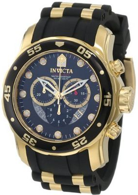 Invicta 6981 Pro Diver Collection Chronograph Black Dial Black Dress