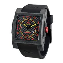 iTime Unisex Quartz with Black Dial Analogue Display and Black Silicone Strap MC4300-C-MC01