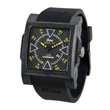 iTime Unisex Quartz with Black Dial Analogue Display and Black Silicone Strap MC4300-C-MC02