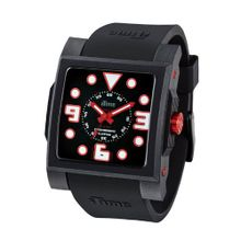 iTime Unisex Quartz with Black Dial Analogue Display and Black Silicone Strap MC4302-MC03