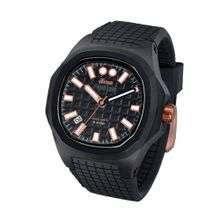 iTime Unisex Quartz with Black Dial Analogue Display and Black Silicone Strap PH4901-PHP2