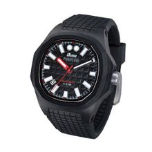 iTime Unisex Quartz with Black Dial Analogue Display and Black Silicone Strap PH4901-PHP4