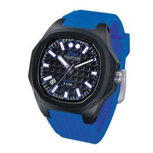 iTime Unisex Quartz with Black Dial Analogue Display and Blue Silicone Strap PH4901-PHN2
